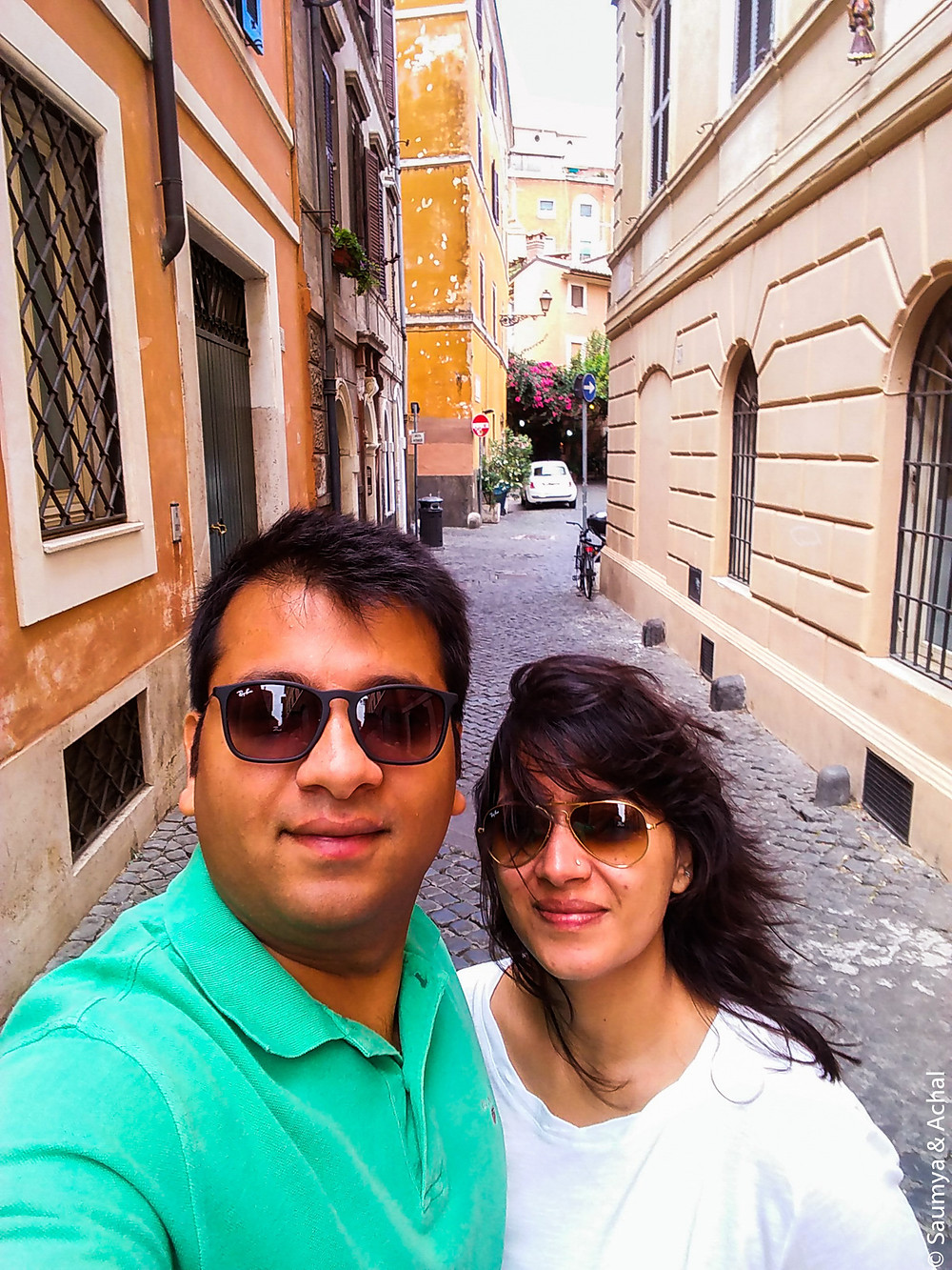 The quaint cobble-stoned streets of Trastevere, Rome