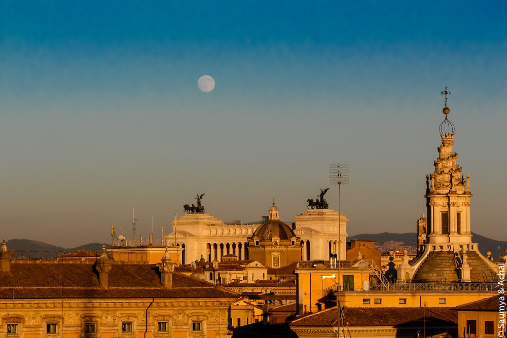 Sunset @ Piazza Venezia, Rome