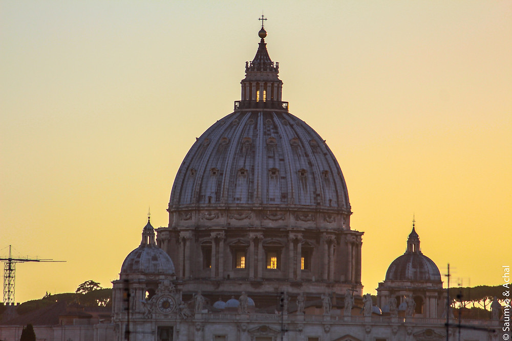 Sunset over St. Peter's Basilica, Rome
