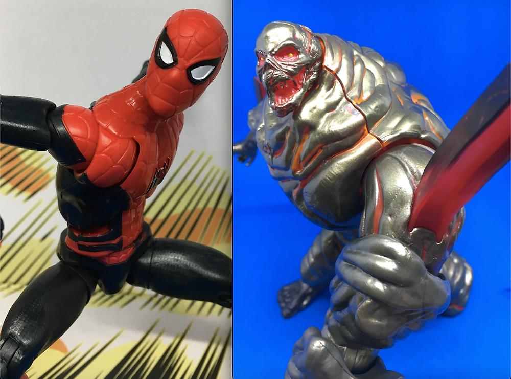 SCORPION Marvel Legends Spider-Man Molten Man BAF *Damaged Box*