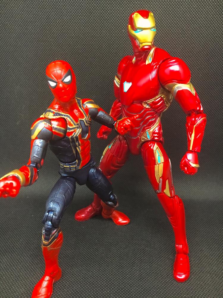 marvel legends iron man mk 50  u0026 iron spider 2 pack