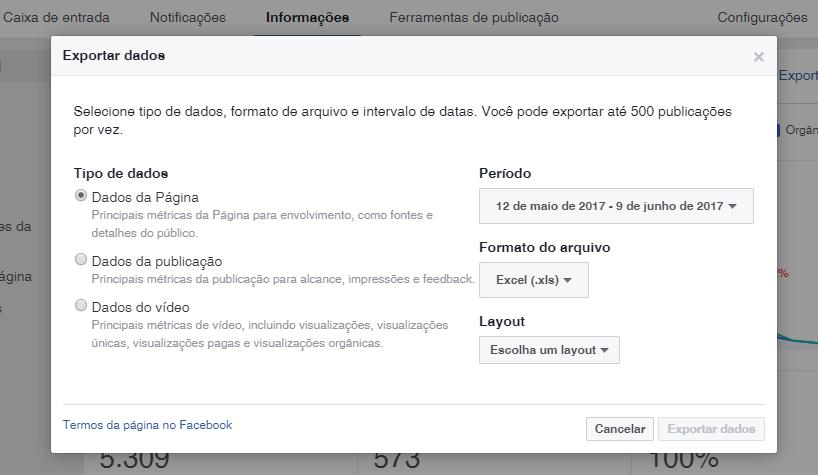 relatório-redes-sociais-exportar-dados-página-facebook