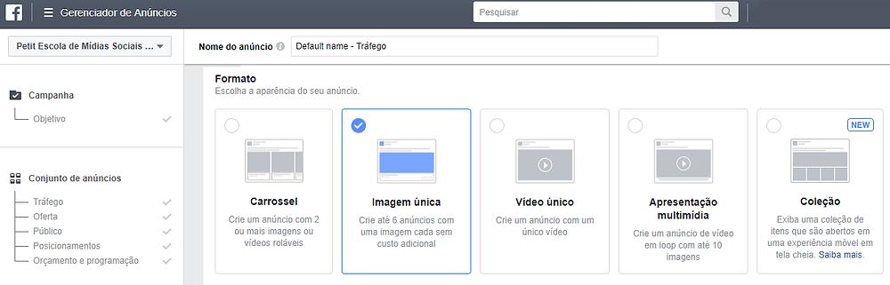 criar campanhas facebook instagram