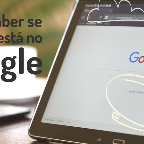 Como saber se seu site está no Google