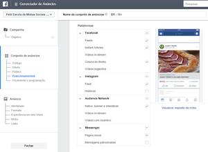 criar campanhas de facebook instagram