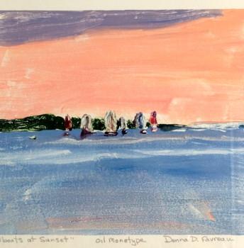 Sailboats at Sunset   $425