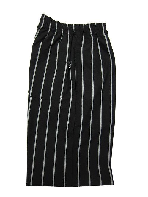 Pantalón modelo Resorte color Negro con rayas gruesas blancas EXCLUSIVO C & M UNIFORMS