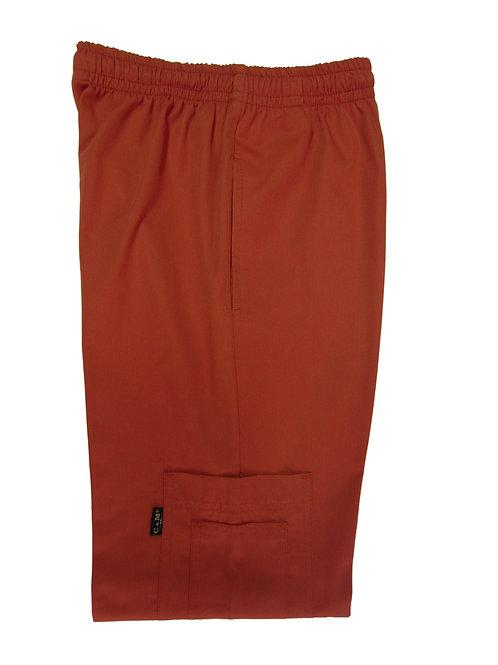 Pantalón modelo Resorte con Bolsillo al costado Terracota