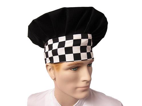Gorro Hongo negro base diseños ajedrez