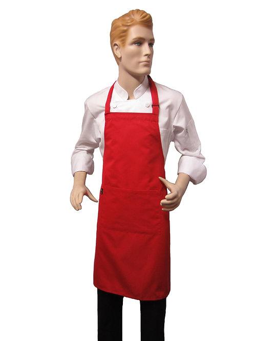 Mandil Chef Pechero Normal Rojo