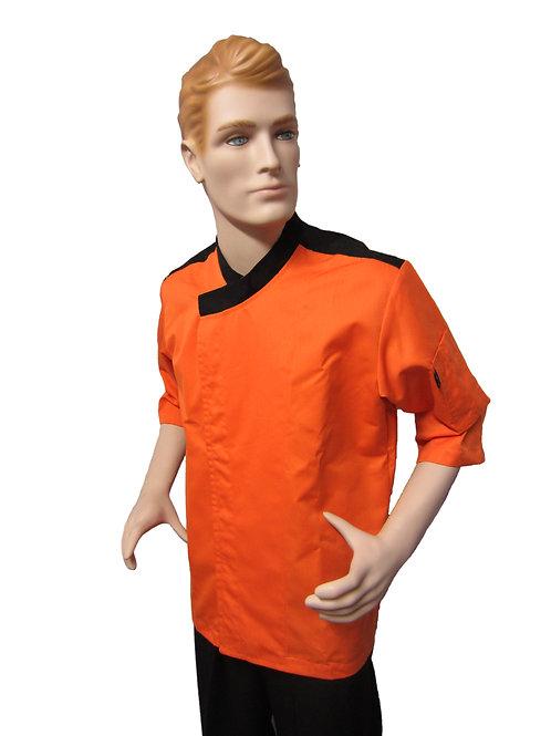 Chaqueta de Chef Modelo Hombrera color Naranja