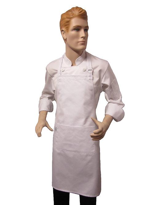 Mandil de Chef pechero blanco