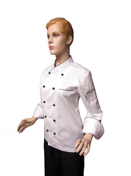Chaqueta de Chef Modelo Cuello Cruzado Mujer