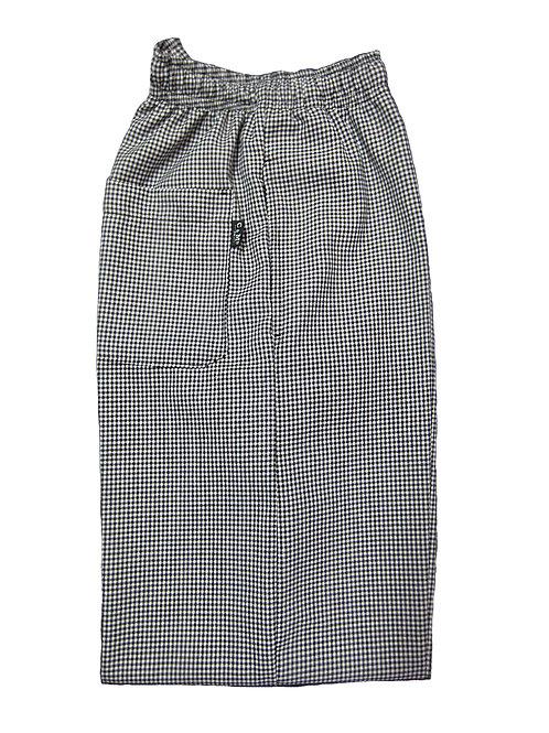 Pantalon Resorte Cuadritos Negro Blanco