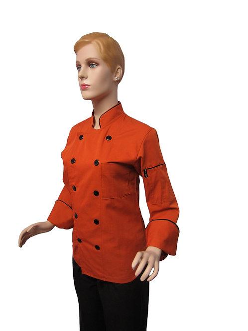 Chaqueta de Chef Mujer terracota