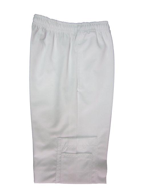 Pantalón modelo Resorte con Bolsillo al costado Blanco
