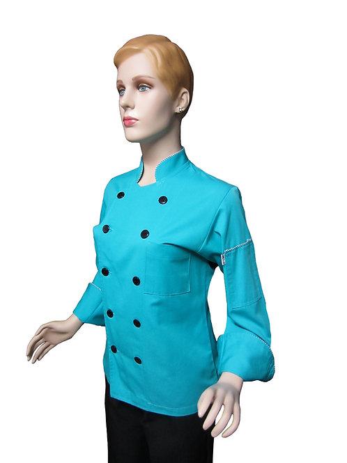 Chaqueta de Chef Mujer Turquesa