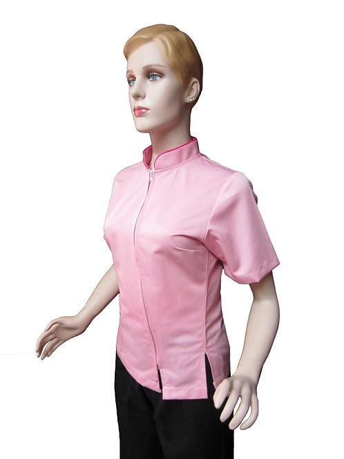Conjunto: Chaqueta Cuello Neru con Detalles y Pantalon Resorte, Color Rosado