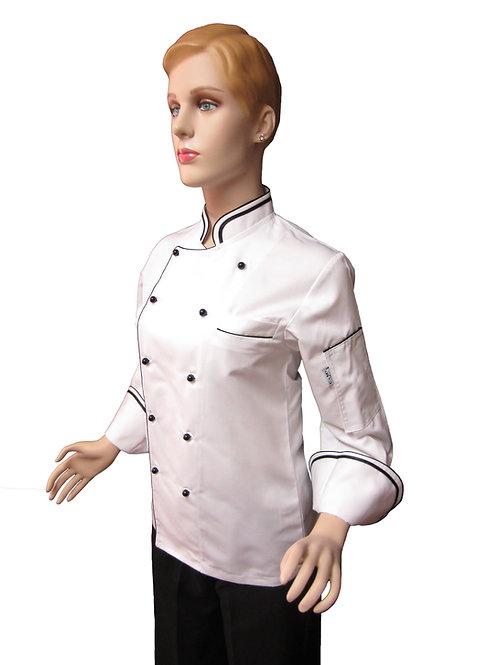 Chaqueta de Chef Modelo Doble Vivo Mujer