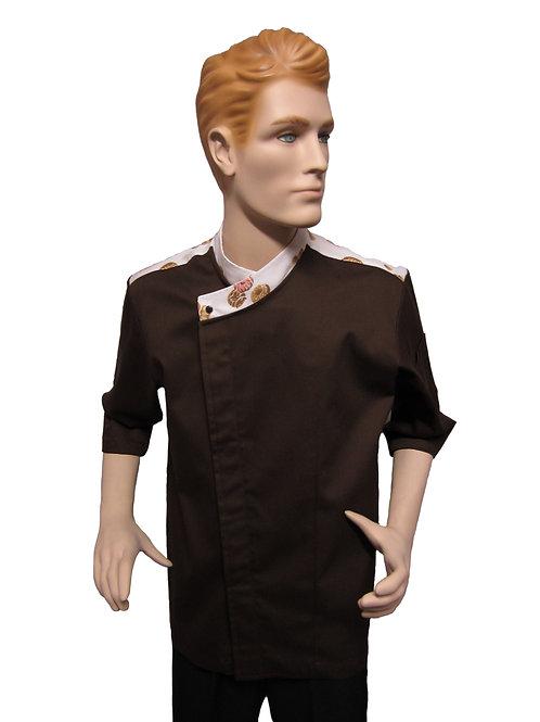 Chaqueta de Chef con Hombrera diseño de Panaderia