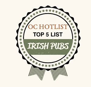 OC Hotlist, Top 5 List, Irish Pubs