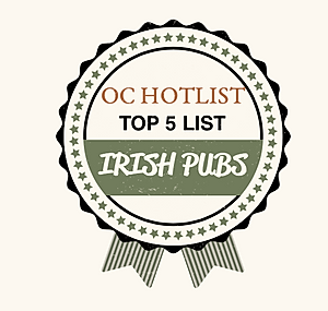 OC Hotlist, Top 5 List, Irish Pubs