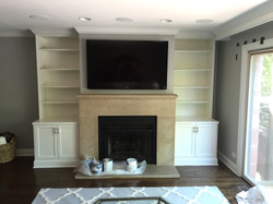 Custom Fireplace Bookcases Built-ins