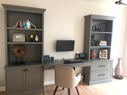 Customized Wooden Desk Built-ins
