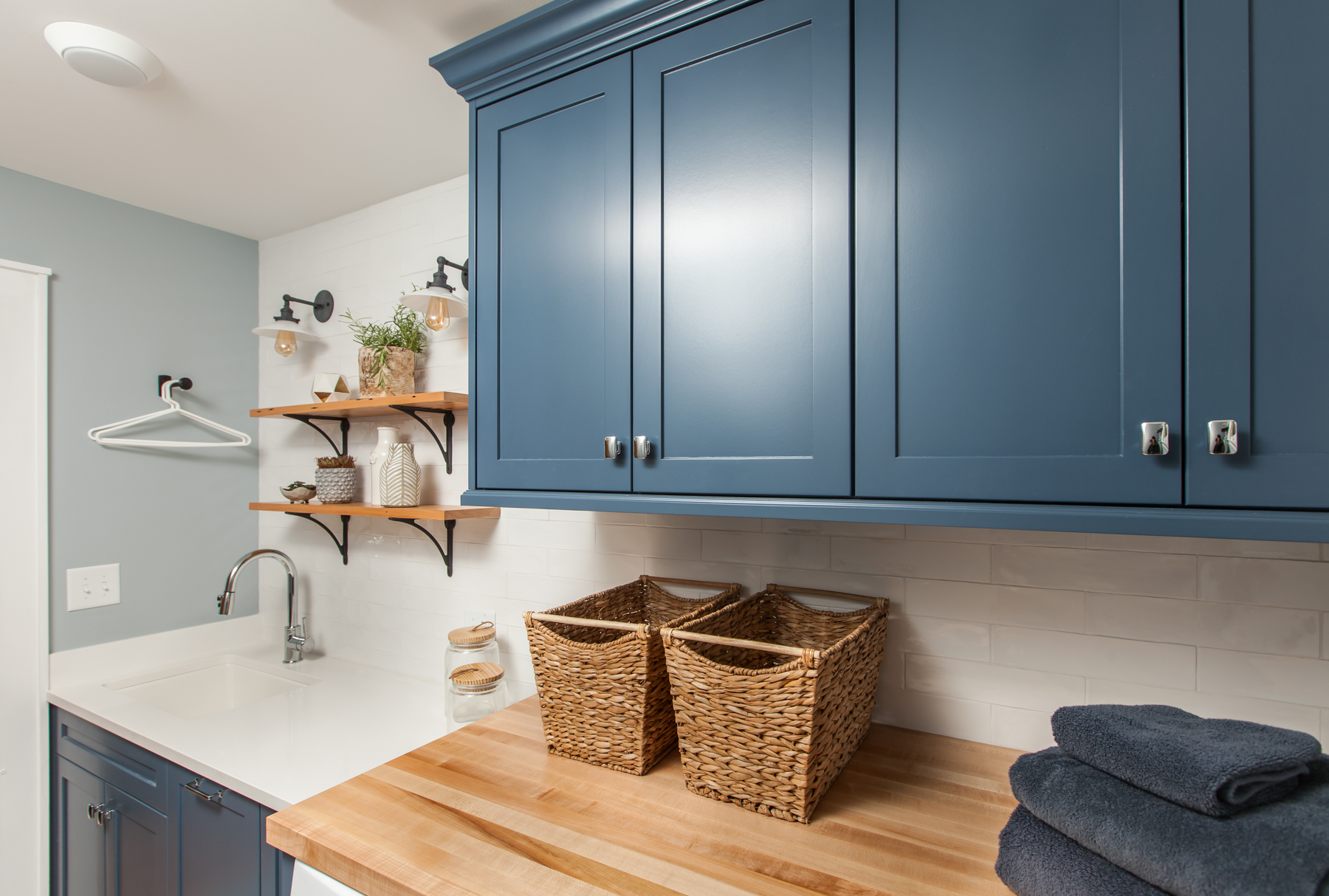Handmade Custom Laundry Cabinet