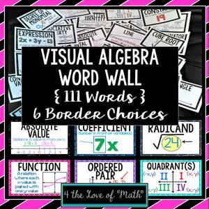 Algebra Visual Word Wall