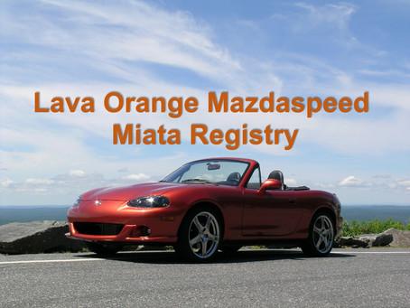 Lava Orange Registry