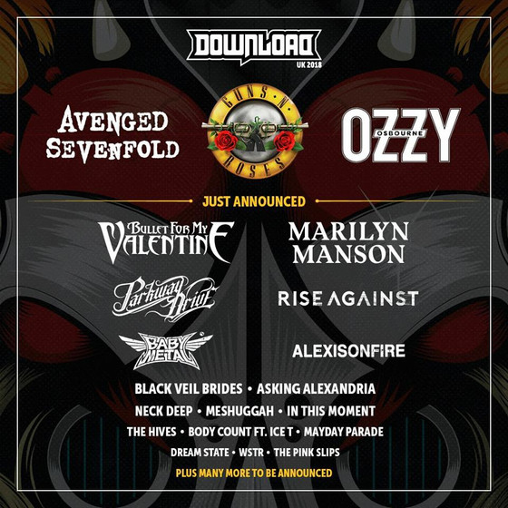 DOWNLOAD 2018 ANNOUNCE THE FIRST BANDS TO SUPPORT THE HEADLINERS!