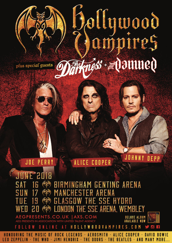 The Hollywood Vampires have announced their full UK lineup!