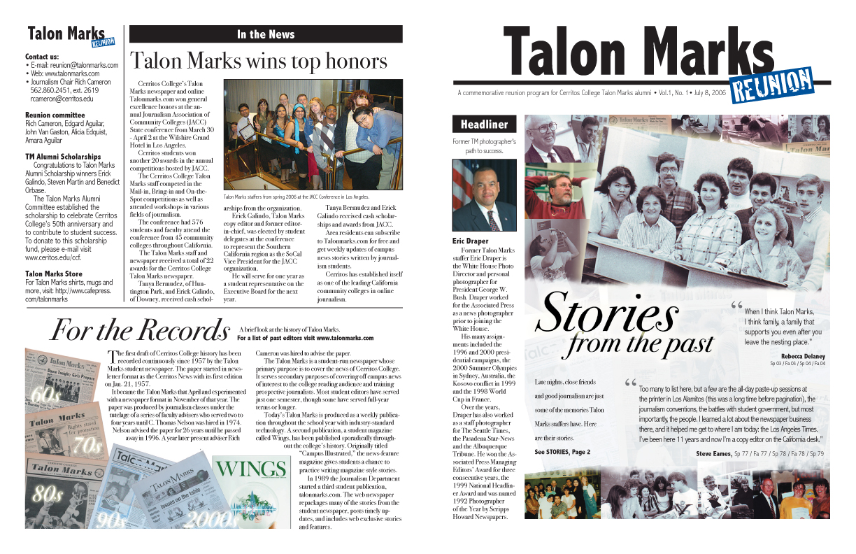 Talon Marks Reunion Newsletter