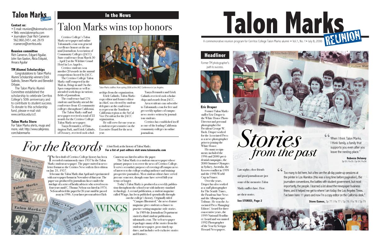 Talon Marks Reunion Newsletter