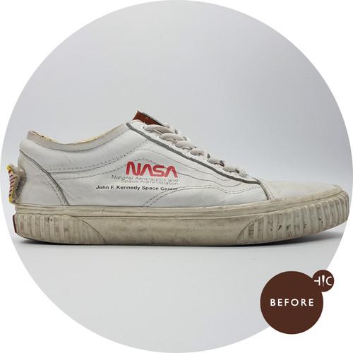 Vans Old Skool NASA Space Voyager True White Cleaning