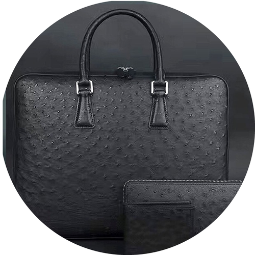 Ostrich Leather Corporate Set