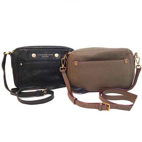 Black and Brown Leather Sling Messenger Bags