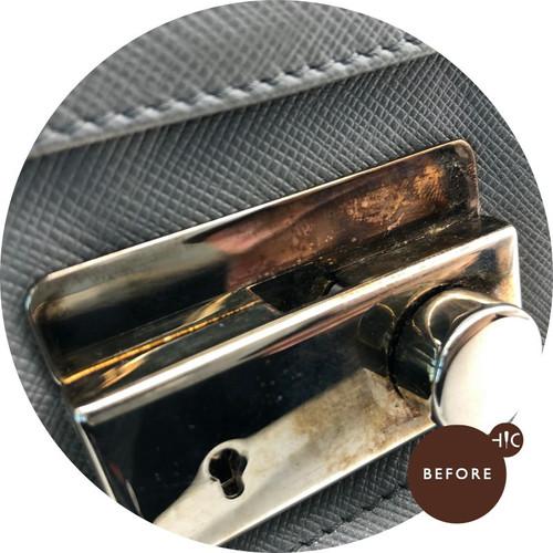 Prada Shoulder Bag Metal Polish