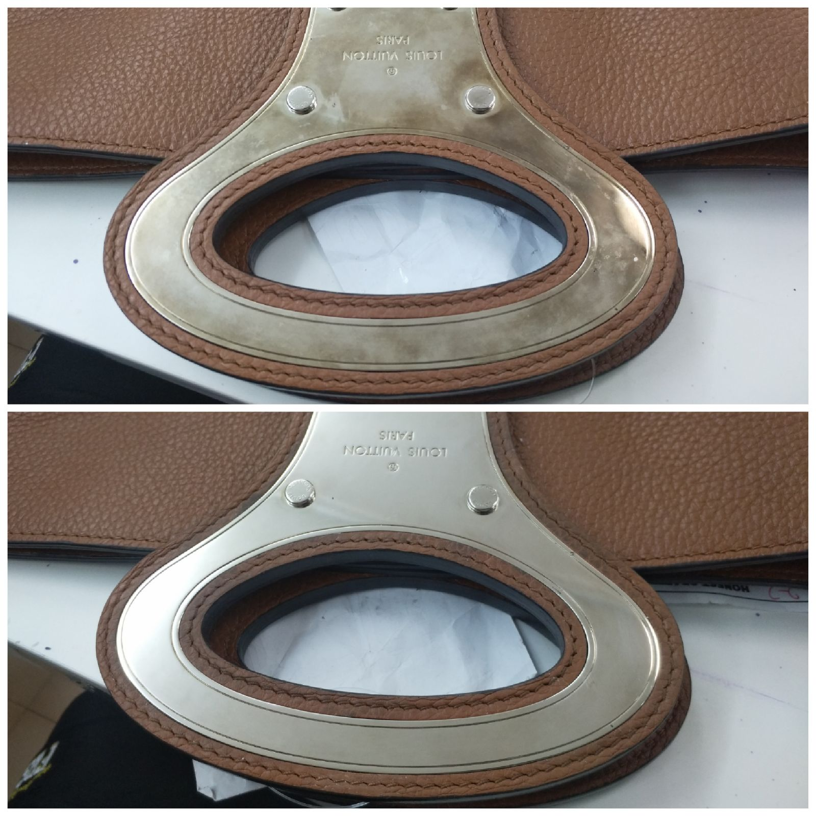 Metal Polish on LV Bag Buckle