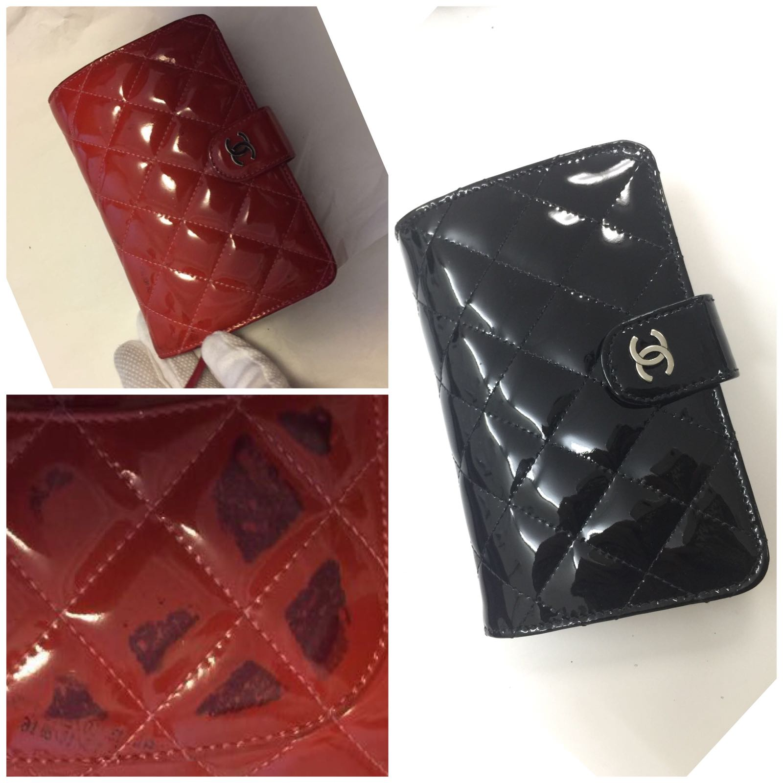 Chanel Patent Wallet Colour Dye