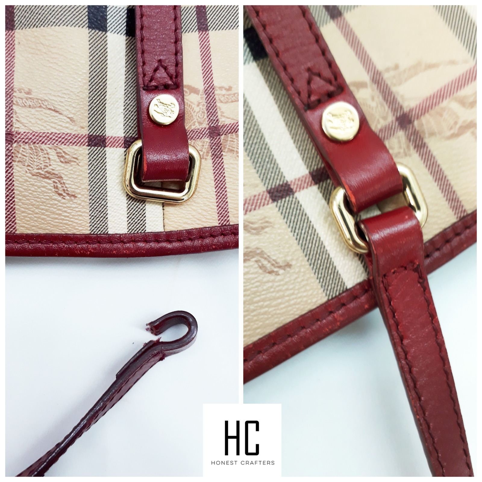 Burberry bag strap repair