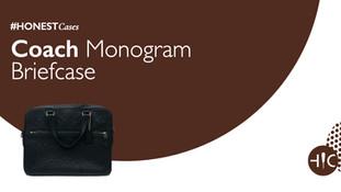Case Study - Coach Monogram Briefcase