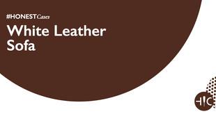 Case Study - White Leather Sofa