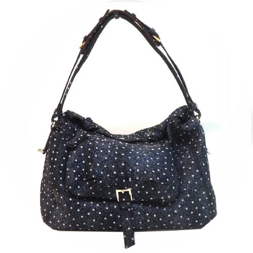 Dotted Leather Shoulder Bag