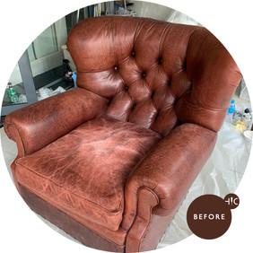 Leather Armchair Redye