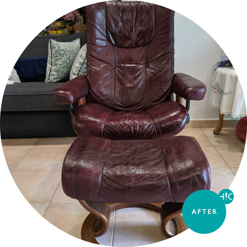 Brown Leather Armchair Leather Restoration