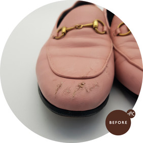 Gucci Pink Loafers Leather Restoration