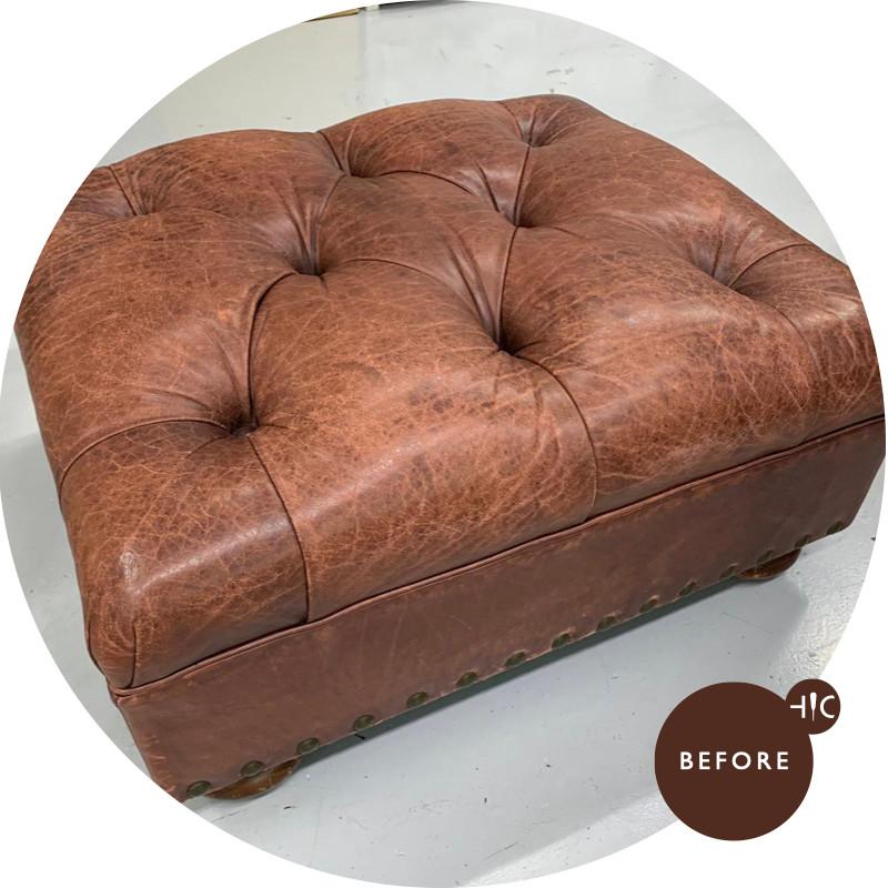 Leather Ottoman Redye