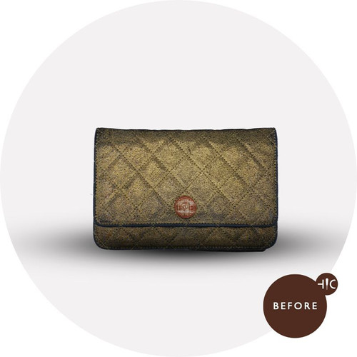 Chanel Purse Metallic Leather Replacement